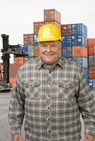 Male dock worker