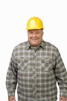 man wearing hard hat