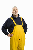 male fisherman with hands on hips