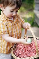 Boy holding Easter egg