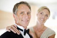 Portrait of couple in evening wear