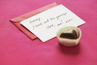Note with Chocolate