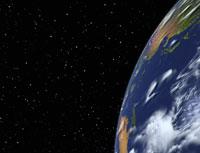 Globe in Starry Sky Pacific Rim 11030006034| 写真素材・ストックフォト・画像・イラスト素材|アマナイメージズ