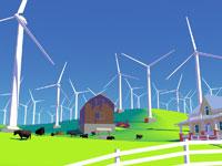 Wind Farm 11030011842| 写真素材・ストックフォト・画像・イラスト素材|アマナイメージズ