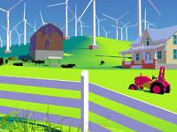 Wind Farm 11030011844| 写真素材・ストックフォト・画像・イラスト素材|アマナイメージズ