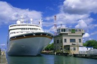 Cruise Ship in the Welland Canal