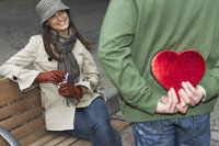 Man Giving Woman Valentine Gift
