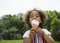 Girl Eating Ice Cream Cone