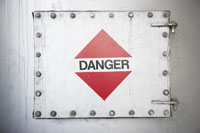 Danger Sign on Hatch