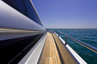 Deck of Luxury Yacht