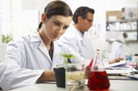 Scientist Examining Specimen