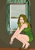 Illustration of Woman 11030022487| 写真素材・ストックフォト・画像・イラスト素材|アマナイメージズ