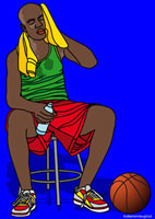 Illustration of Basketball Player
