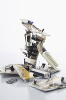 Close-Up of Computer Parts