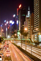 View of Gloucester Road at Night,Wan Chai