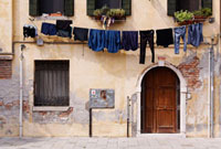 Laundry on Clothesline,Venice,Italy