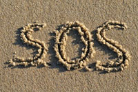 SOS Written in Sand