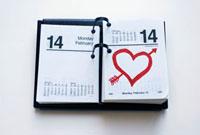 Calendar Showing Valentine�fs Day