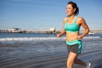 Woman Jogging, Long Beach, Los Angeles County, California, U
