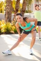 Women Stretching, Long Beach, Los Angeles County, California