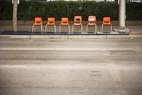Chairs on Sidewalk, Calgary, Alberta, Canada