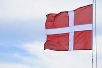 Danish Flag, Ittoqqortoormiit, Sermersooq, Greenland