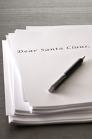 Note Paper and Pen, Letter to Santa Claus