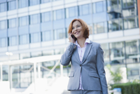 Businesswoman on Cellphone, Niederrad, Frankfurt, Germany