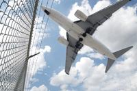 Jet Landing at Pearson International Airport, Toronto, Ontar