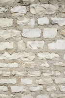 Detail of Stone Wall, Royan, Charente-Maritime, Poitou-Chare