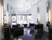 Interior of Hair Salon, Toronto, Ontario, Canada