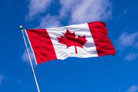 Canadian Flag Waving aganist Blye Sky, Halifax, Nova Scotia, 11030036250| 写真素材・ストックフォト・画像・イラスト素材|アマナイメージズ