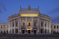 Hofburgtheater in Vienna illuminated at night. Vienna, Austria.