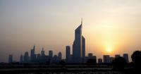 Skyline at Sunset, Dubai, United Arab Emirates 11030038545| 写真素材・ストックフォト・画像・イラスト素材|アマナイメージズ