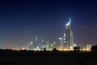 Skyline at Night, Dubai, United Arab Emirates 11030038546| 写真素材・ストックフォト・画像・イラスト素材|アマナイメージズ