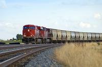 CP freight train outside Swift Current, Saskatchewan, Canada.