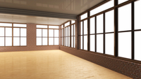 3D-Illustration of Empty Hall