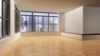 3D-Illustration of Empty Living Room 11030038782| 写真素材・ストックフォト・画像・イラスト素材|アマナイメージズ