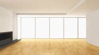 3D-Illustration of Empty Living Room