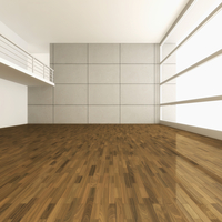 3D-Illustration of Empty Room with Gallery