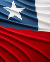 Close-up of Chilean Flag