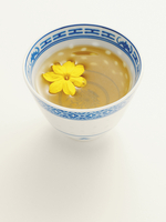 Chinese Cup of Jasmine Tea with Blossom, Studio Shot