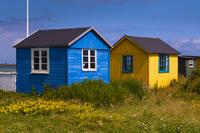 Beach Huts, Aeroskobing, Aero Island, Jutland Peninsula, Region Syddanmark, Denmark, Europe