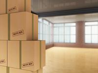 3D-Illustration of Pile of Cardboard Boxes to be Returned in Loft 11030041382| 写真素材・ストックフォト・画像・イラスト素材|アマナイメージズ