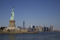 Statue Of Liberty with New York City Skyline, New York, USA