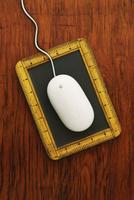 Computer Mouse on Writing Slate 11030042870| 写真素材・ストックフォト・画像・イラスト素材|アマナイメージズ