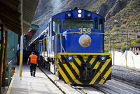 Train at Station, Ollantaytambo, Urubamba Province, Cusco Region,Peru