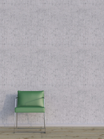 Digital Illustration of Green Chair on Hardwood Floor in front of Concrete Wall