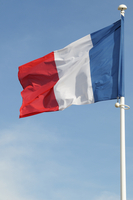 French Flag Blowing in Breeze, France