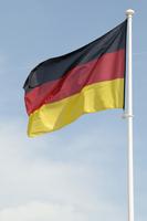 German Flag Blowing in Breeze, Germany